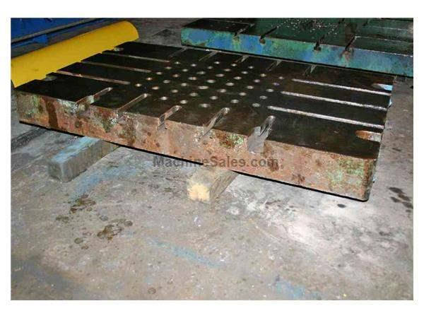 "50"" X 30"" X 4-1/2"" T SLOTTED BOLSTER PLATE:  STOCK #50428"
