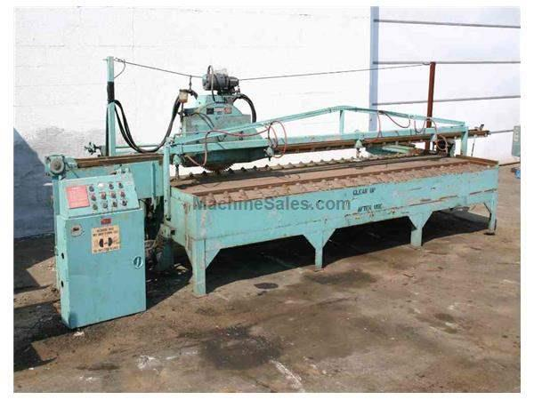 "144"" STONE TRAVELING HEAD PLATE SAW: STOCK #50988"