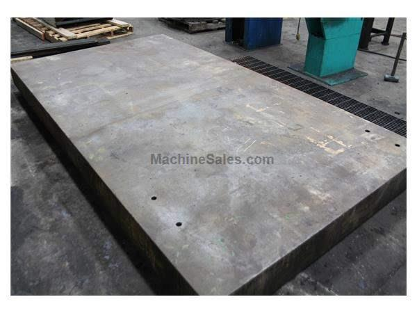 "6' X 11' X 8"" HIGH CAST IRON SURFACE PLATE: STOCK #58484"
