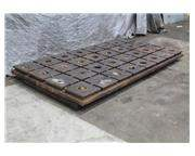 """120"""" X 57"""" X 4"""" CAST IRON CROSS T-SLOTTED PLATE: STOCK #59444"""