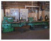 "28"" X 124"" TOS GAP BED ENGINE LATHE: STOCK #59822"