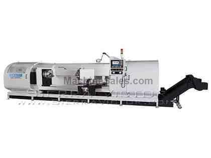 "65"" x 59"" - 236"" SHARP® CNC Big Bore Flat Bed Lathe"
