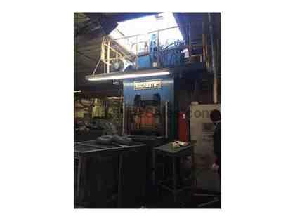 "300 TON MACRODYNE HYDRAULIC PRESS, YEAR 2009, 30"" x 25"" BED, 8"" STROKE"