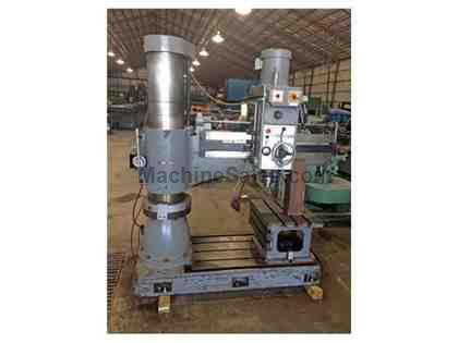 "4' x 12"" Sharp RD-1230 Radial Arm Drill with Box Table"