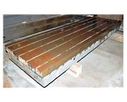 """(1) 155"""" x 78.5"""" T-Slotted Cast Iron Floor Plate"""