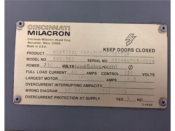 Prime Used Cincinnati Milacron 5Vc 750 Vmc For Sale 117090 Wiring Digital Resources Attrlexorcompassionincorg