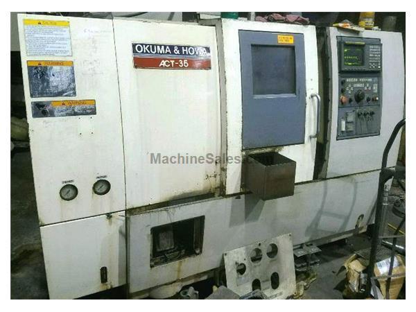 Used 1995 Okuma & Howa ACT-35 With Fanuc 18T CNC Control Tailstock