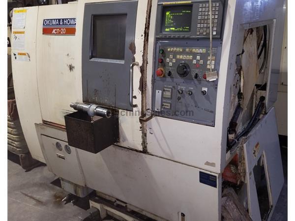 Used 1997 Okuma & Howa ACT-20 With Fanuc 18T CNC Control All Options