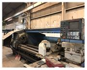 "Used Mazak Model Powermaster N 34""x120 CNC 10.2"" Hollow Spindle Lathe, 1997"