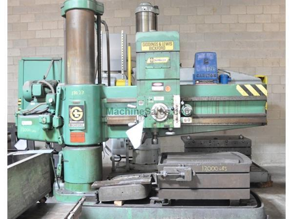 "6' X 15"" GIDDINGS & LEWIS RADIAL DRILL"