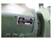 "14"" Doringer # D-350 , low turn circular cold saw, (2) pneumatic vises, saw blade, co"