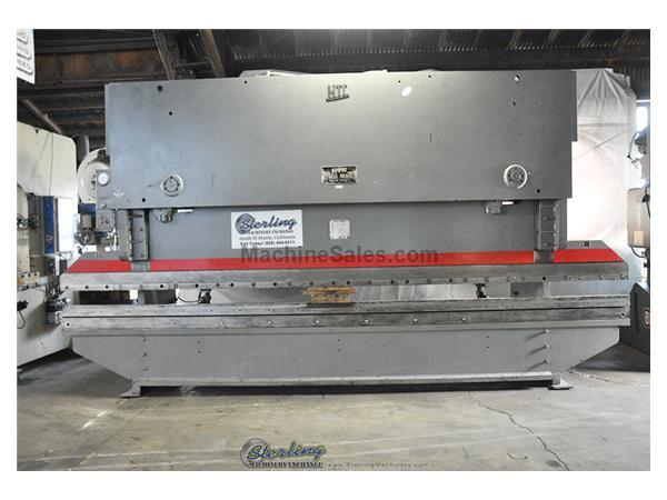 150 Ton, HTC # 154-G-20 , hydraulic press brake, 20' OA, back gauge, manual depth stop, el