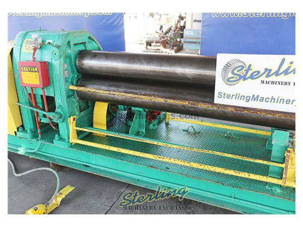 "12' x 3/16"" Webb # 6L , mech powered plate roll, 9"" roll diameter, 8-16 FPM, 10 HP, #A5116"