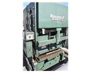 "300 Ton, Rousselle # B2-300-60-30 , 4"", air counterbalances, reinforced box bed, A/C,"