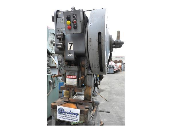 "22 Ton, Minster #3, hi-speed OBI punch press, 1-1/4"" stroke, 20"" x 12"" bed, 350 SPM, Minute meter, parts counter, A/C & brake, #A2498"