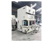 "220 Ton, Aida # NC2-200(2) , 9"" stroke, mechanical two point C-frame press, air clutc"