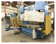 250 Ton, Pullmax # 250.3.1/2.55 , 12' OA, Cybelec Modeva 10S 6-Axis CNC, used, #A4300
