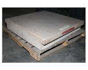 "36"" Length 36"" Width Herman Stone Co. GRANITE SURFACE PLATE, GRADE A, TWO LEDGE,"