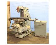"51"" Table 6HP Spindle Hermes 306 UNIVERSAL MILL, Swiveling Tbl,Arbor Support,#40 Tape"