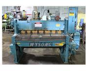 """12Ga Cap. 52"""" Width Wysong 1252 SHEAR, Front Operated Powered Back Gauge"""