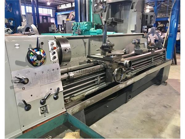 "21"" Swing 120"" Centers Clausing-Colchester 8118 ENGINE LATHE, Inch/Metric,3.5"" Hole,Steady,3-Jaw,Toolpost,12.5HP"