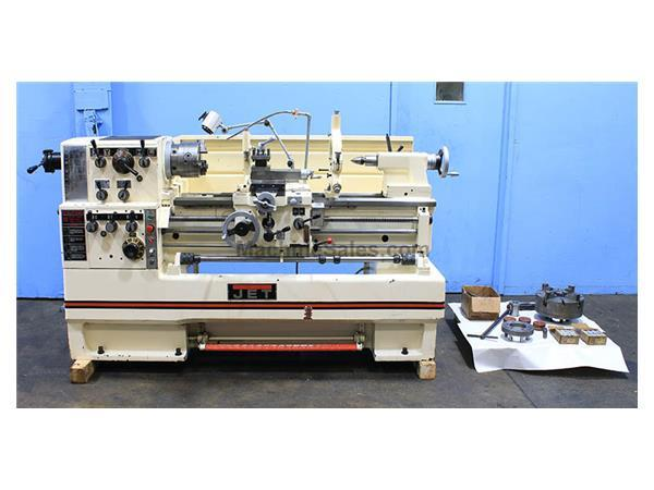 "16"" Swing 40"" Centers Jet GH-1640 ENGINE LATHE, Inch/Metric, Gap, 3-Jaw, 5C Collet,Steady,5"