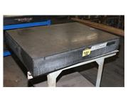 """48"""" Length 36"""" Width DoAll GRANITE SURFACE PLATE, 6.5"""" THICK, on stand"""
