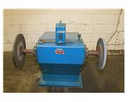 """5HP Motor 2Hd Heads G DOUBLE END BUFFER POLISHER, 1.25"""" Spindle Dia., Small Footprint"""