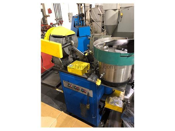 MORONI RIVET ASSEMBLY MACHINE, W/VIBRATORY BOWL & ROTARY FEEDER