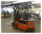 Linde Model E25B Electric Fork Lift, 4600 lb. Capacity