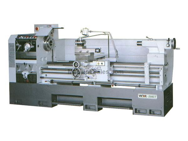 "29"" Swing 60"" Centers Victor 2960T w/Special Package ENGINE LATHE, 4-1/8"" Bore, 4-Way Rapid Traverse, 20 HP Motor"