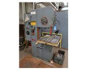 "20"" Throat 12"" Height DoAll 2012-2A VERTICAL BAND SAW, Vari-speed,5HP,Table Feed"