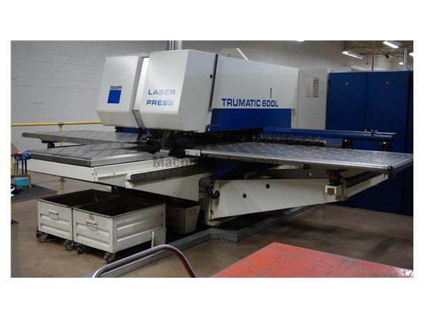 Used 25 Ton Trumpf TC600L CNC Punch With 2400 W Laser for