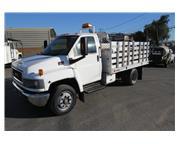 2008 GMC C5500 12 ft. Aluminum Stake / Flatbed Fleet Pressure Wash Truck CA