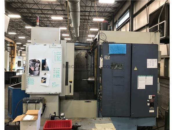OKK Horizontal Machining Center Model HM60 Fanuc 16M CNC Controls