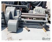 "6' x 1/4"" Webb # R3L , mechanical powered plate roll, manual drop end, power rear rol"
