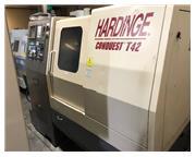Hardinge Conquest T-42 CNC LATHE, Fanuc 18T, Live Tool, Subspindle, Chip Conv.