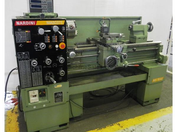 "16"" Swing 40"" Centers Nardini MS1640 ENGINE LATHE, Inch/Metric, Gap, Steady, Toolpost, 3-Jaw,"