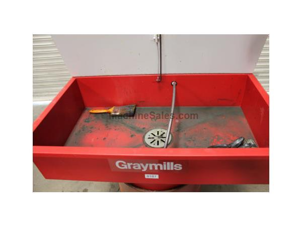 Used Graymills #DMD236, Solvent Drum Mount Manual Parts Washer, 36