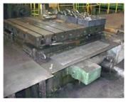 """102"""" x 96"""" Giddings & Lewis , ball screw infeed table, 50000 lb. capacity, # 460"""