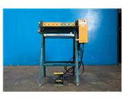 """Nor # 218-AIR , pneumatic gap punch, 24"""" blank, 24 ga. capacity, 9-punches, stand, re"""