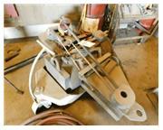 """220 Ton, Elmes # 220 , air over oil portable press, 16"""" str, 9"""" nose, cart & cas"""