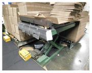 """4000 lb. Southworth , hyd scissor lift, 48"""" x 40"""" platform, elec foot pedal, #82"""