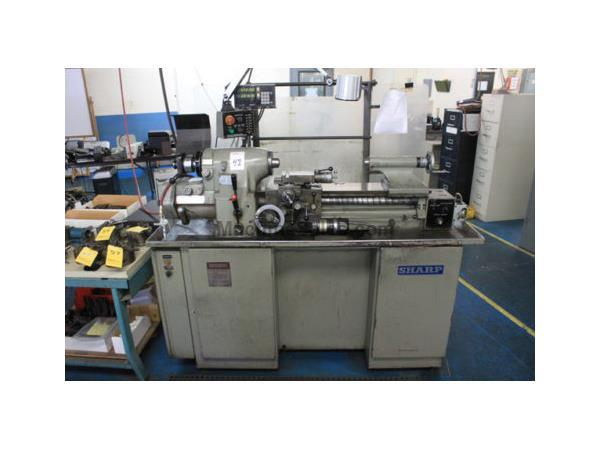 "Sharp # 1118H , high precision toolroom lathe, 11"" swing, 6"" SOCS, in/mm, 1997, #8168HP"