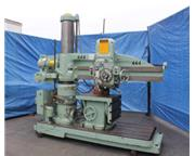 "5'-11"" Carlton # 1A , radial arm drill, tilting box table, power elevation & clamping"