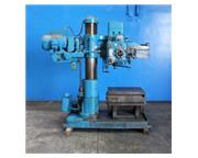 "3'-9"" Carlton # 1A , radial arm drill, box table, power elevation & clamp, #4MT, #455"