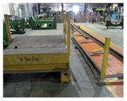 "20000 lb. Coil Transfer car with rails, 72"" diameter, 62"" FB x 64"" LR V-bed"