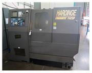 "Hardinge # T42SP , CNC turning center, 21"" sw, 3-Jaw 7"" chuck, 1.6"" bar, GE"