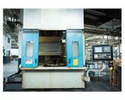 "Springfield # 42CNC , elevating rail, 42"" table, GE Fanuc 16iT 4-Axis control, 1999,"