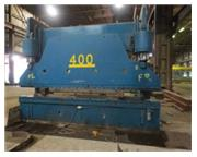 400 Ton, Cincinnati # 400HX4 , hydraulic press brake, 16' OA, electric foot pedal, #7481
